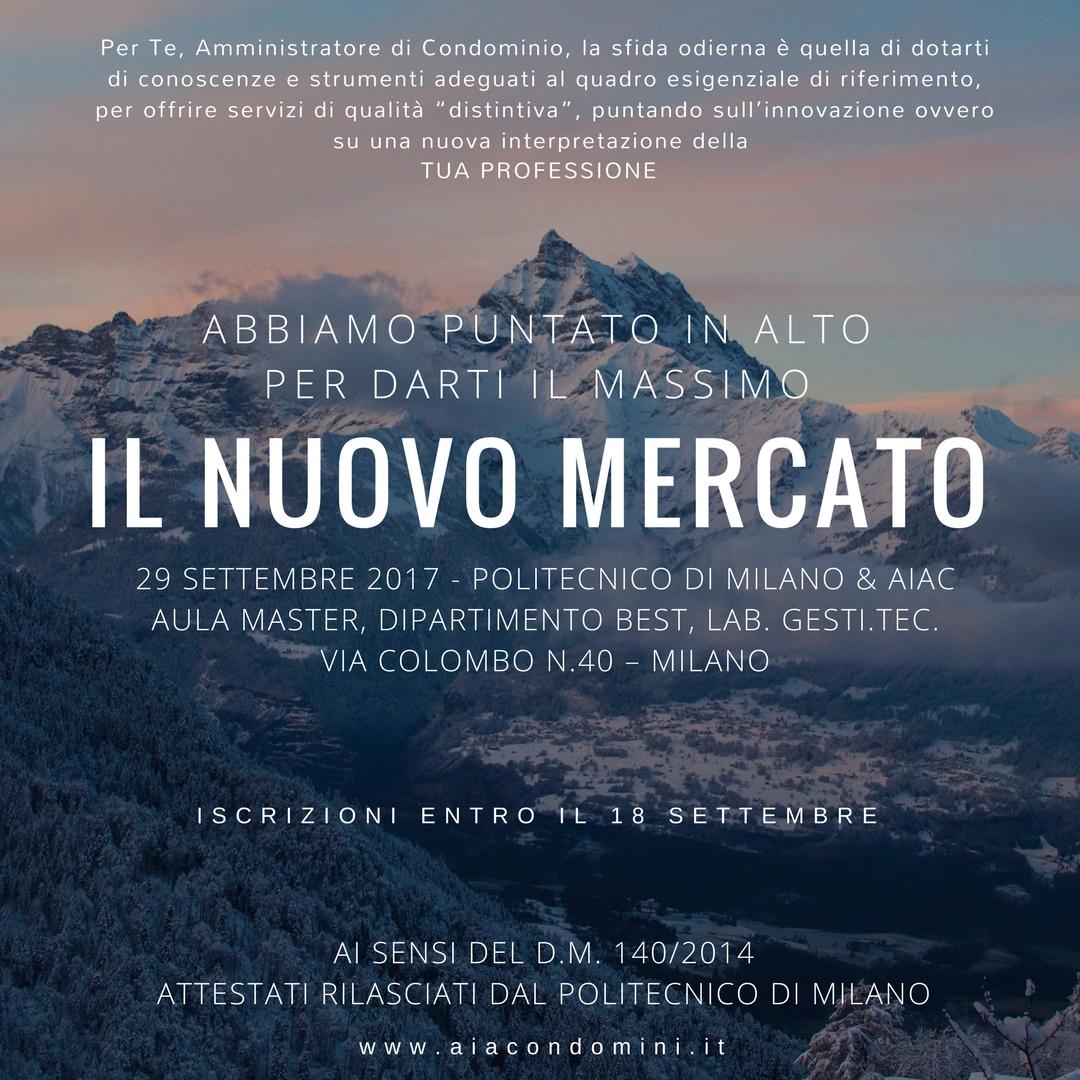 Aiac condomini associazione italiana amministratori di for Politecnico milano iscrizione